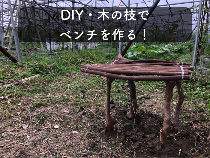 木の枝でベンチを作る方法