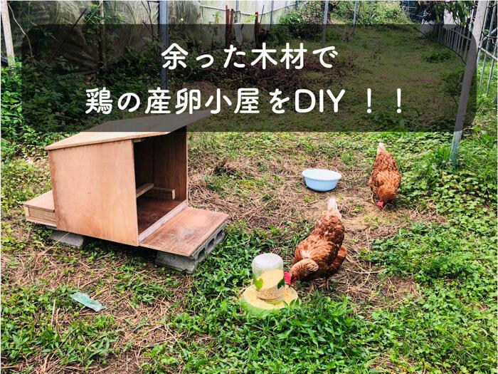 【DIY】余った廃材でニワトリ小屋(産卵部屋)を作成した!所要時間は3時間!