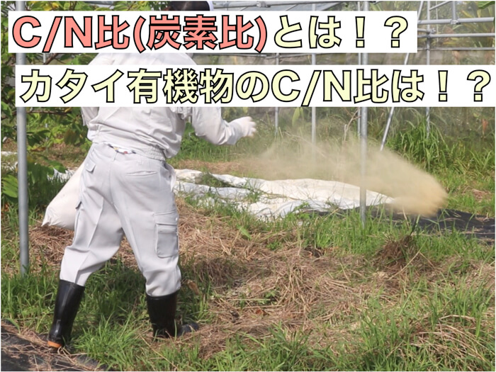 C/N比(炭素比)とは!?理想の値は!?有機資材を選ぶ際の参考に!