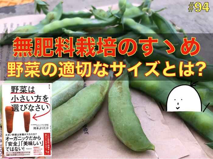 【#94】肥料を入れずに育てる野菜の凄さ!?【野菜は小さい方を選びなさい01】